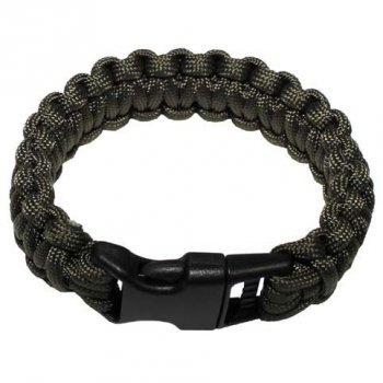 Survival Armband PARACORD 23 mm, oliv