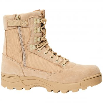Tactical Swat Boots Zipper camel, 40