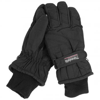 Thermo-Fingerhandschuhe Thinsulate schwarz