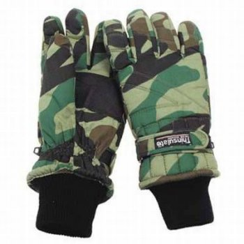 Thermo-Fingerhandschuhe Thinsulate, woodland, L