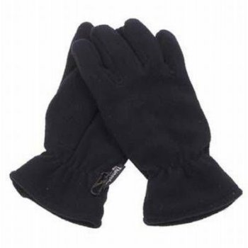Thermo Fleece-Fingerhandschuhe, mit Thinsulatefuellung, schwarz