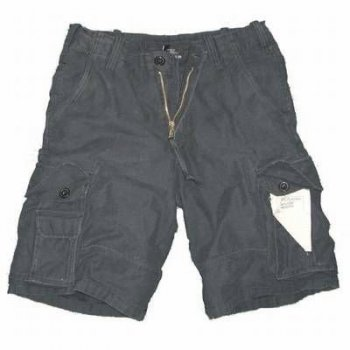 US Aviator Shorts, schwarz, L