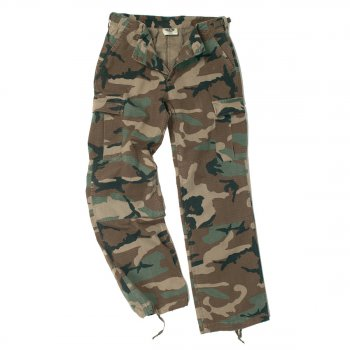 US Damen BDU Hose woodland washed, 38 (M)