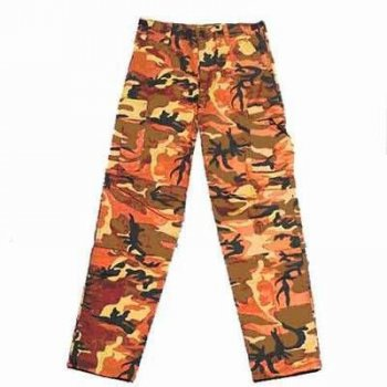 US Feldhose Typ BDU, orange camo