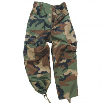 US Kinderhose BDU, woodland, XS