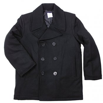 US Navy Pea Coat schwarz