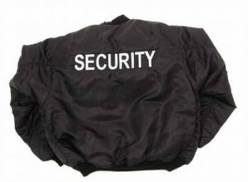 US Pilotenjacke MA1 SECURITY schwarz, XL