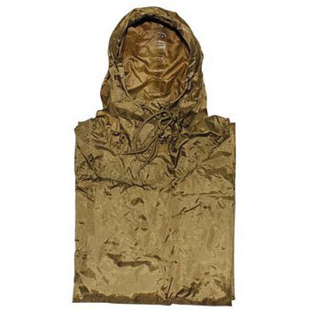 US Poncho Ripstop, coyote