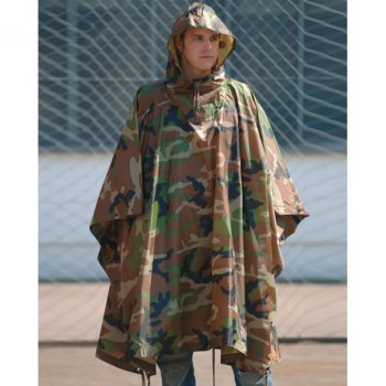 US Poncho Ripstop, woodland