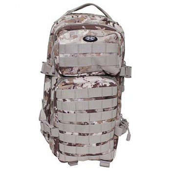 US Rucksack ASSAULT Pack vegetato desert