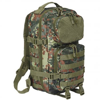 US Rucksack Assault Pack PATCH flecktarn