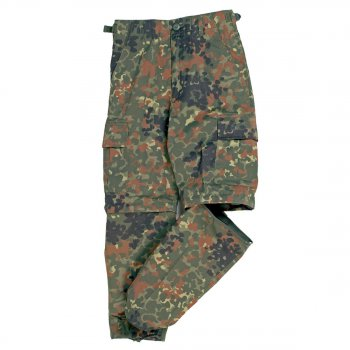 US Zip-off BDU Hose Kids flecktarn, S
