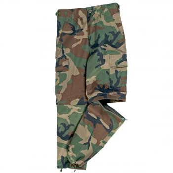 US Zip-off BDU Hose Kids woodland, XS