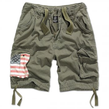 Urban Legend Shorts Stars & Stripes oliv 7XL