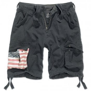 Urban Legend Shorts Stars & Stripes schwarz S