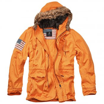 Vintage Explorer Parka Stars & Stripes orange XXL