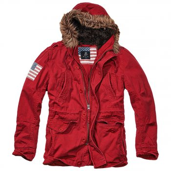 Vintage Explorer Parka Stars & Stripes rot XL