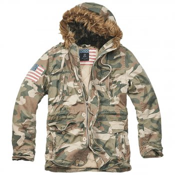 Vintage Explorer Parka Stars & Stripes woodland