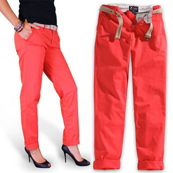 SURPLUS Xylontum Chino Trousers woman rot, 38