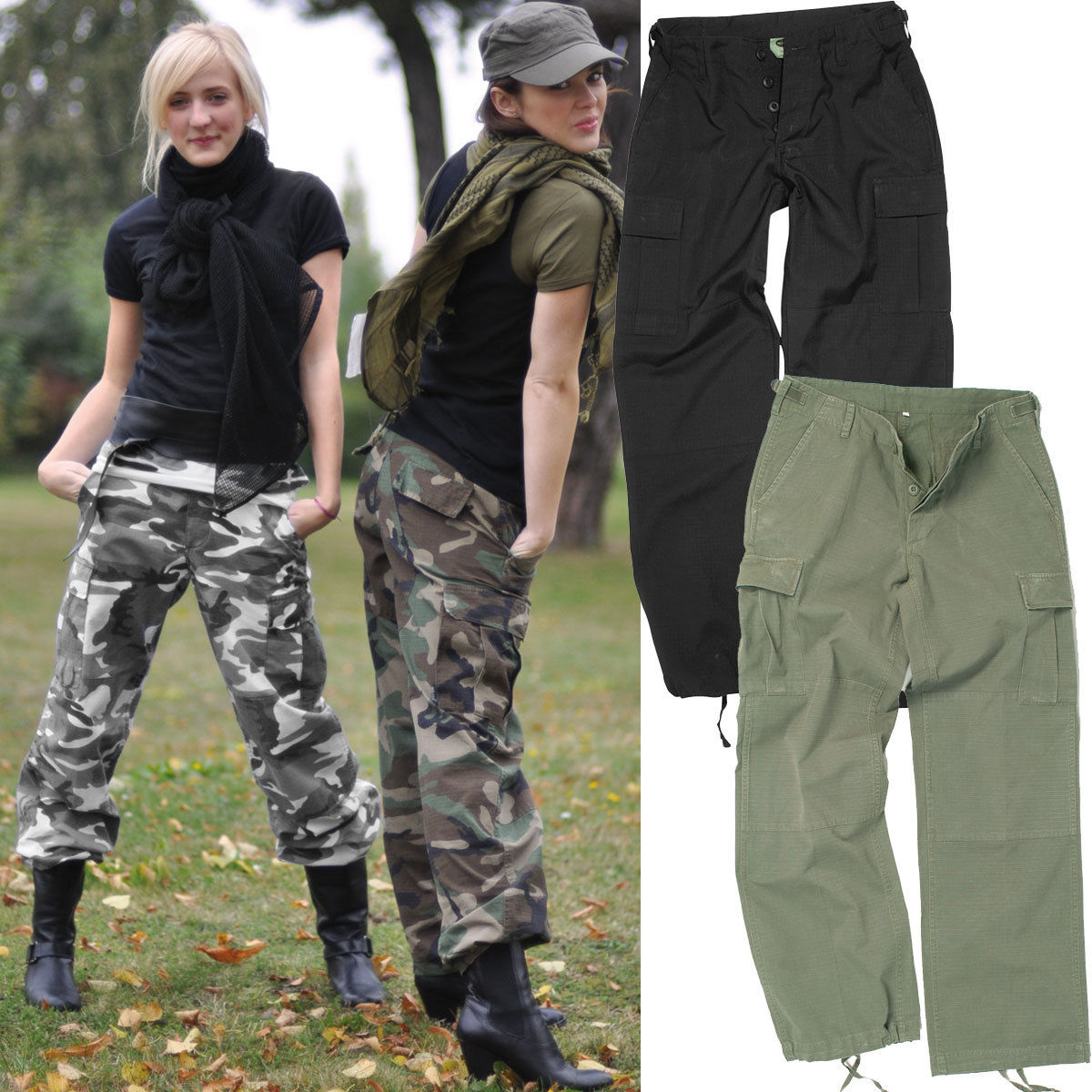 us damen bdu hose tarn o uni xs xl tarnhose military. Black Bedroom Furniture Sets. Home Design Ideas