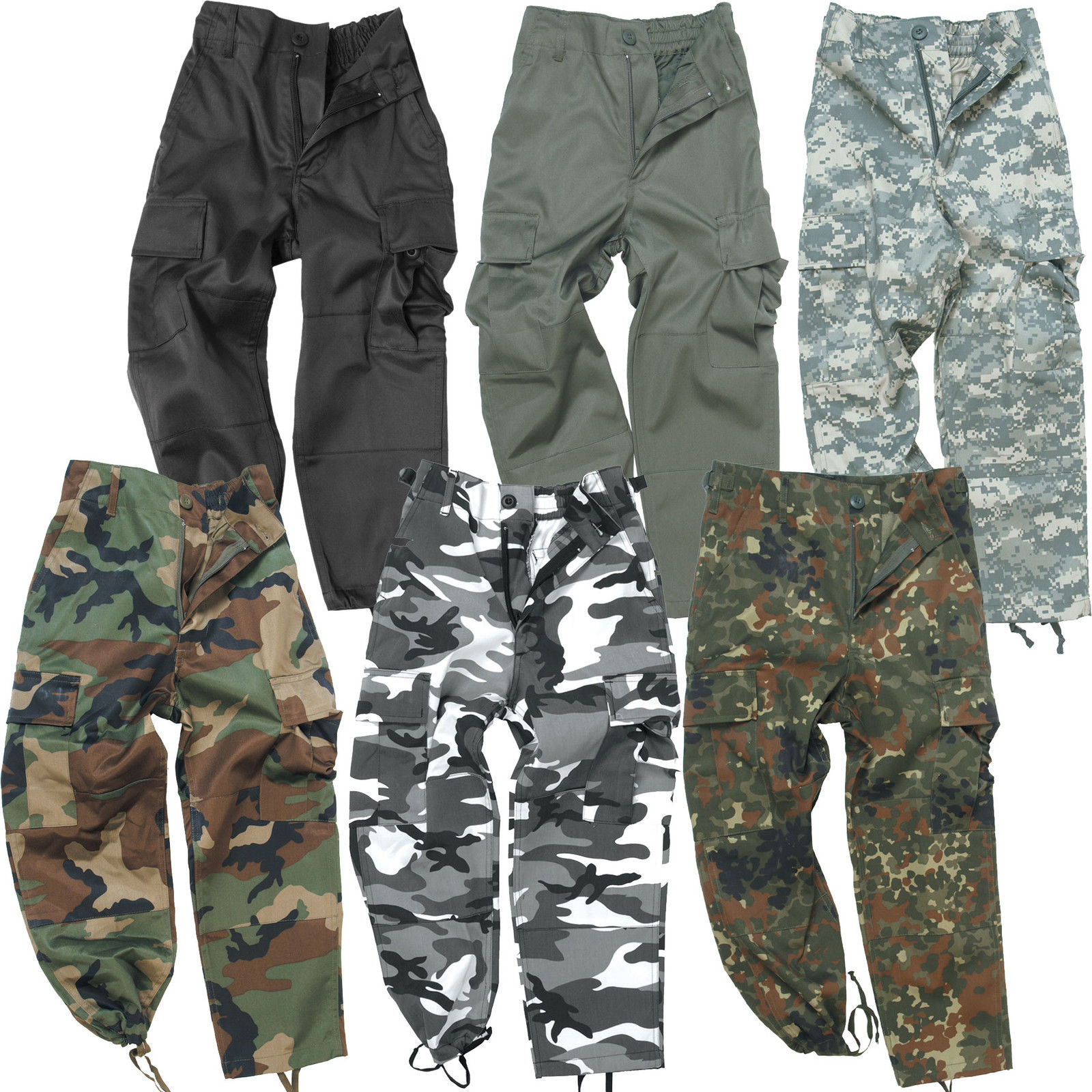 populärer Stil sehr günstig High Fashion Details zu US Kinderhose BDU XS-XXL Outdoor Cargo Army Tarnhose Kinder  Ranger Hose tarn Neu