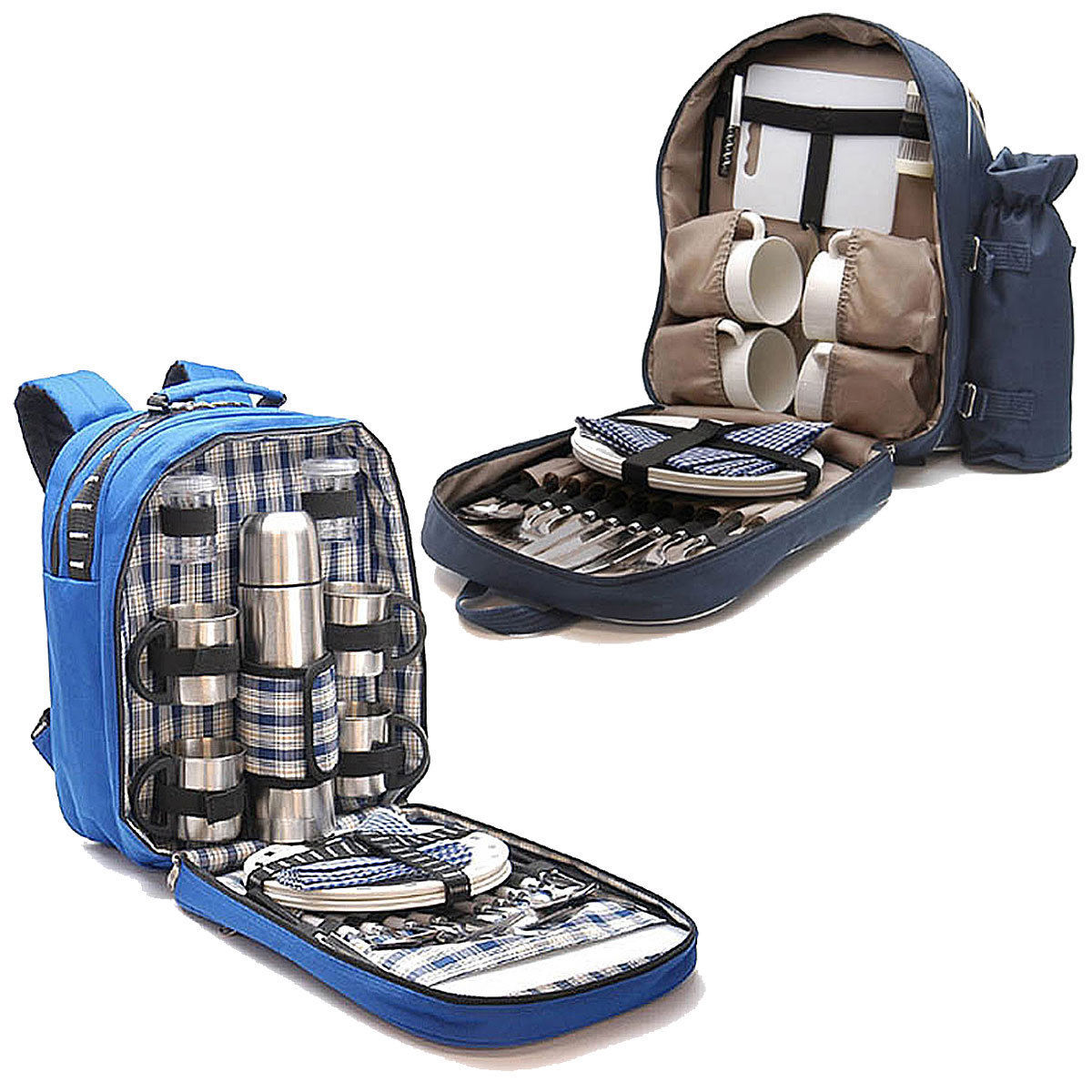picknick rucksack f r 4 personen campinggeschirr outdoor geschirr picknick set ebay. Black Bedroom Furniture Sets. Home Design Ideas
