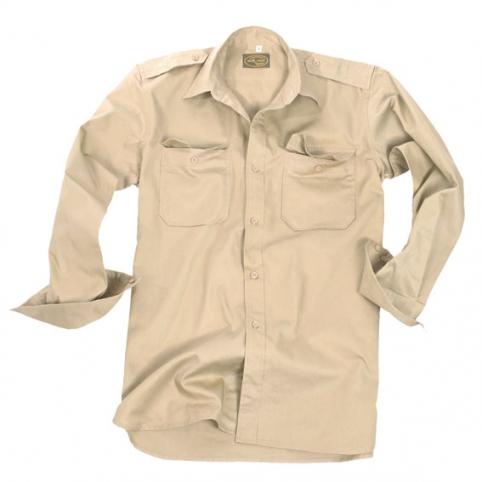 Tropenhemd langarm khaki