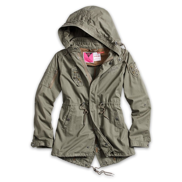 surplus ladies parka 3 farben 34 42 sommer raw vintage damen jacke army jacket ebay. Black Bedroom Furniture Sets. Home Design Ideas