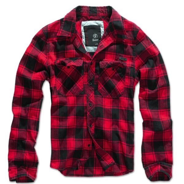 brandit check shirt hemd rot schwarz kariert s 7xl. Black Bedroom Furniture Sets. Home Design Ideas