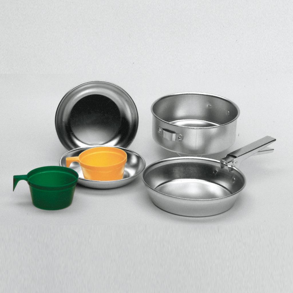 Cocine set aluminio para 2 personas acampar exterior for Utensilios de cocina de aluminio