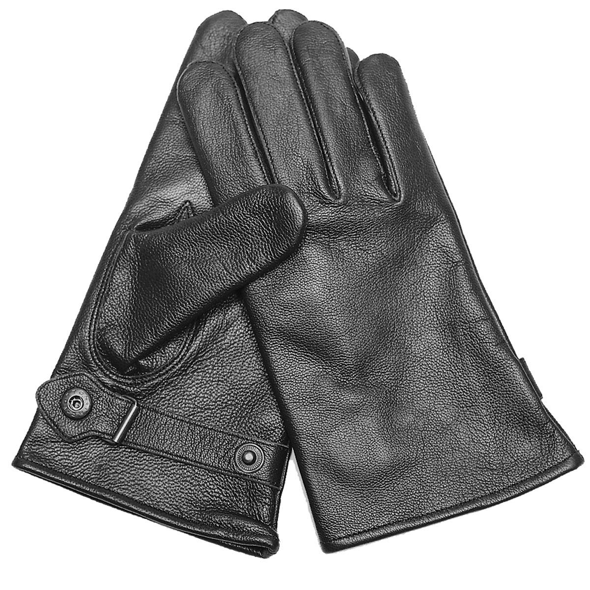 BW Lederhandschuhe schwarz