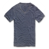 BRANDIT Dexter Tee burnout, denim blue