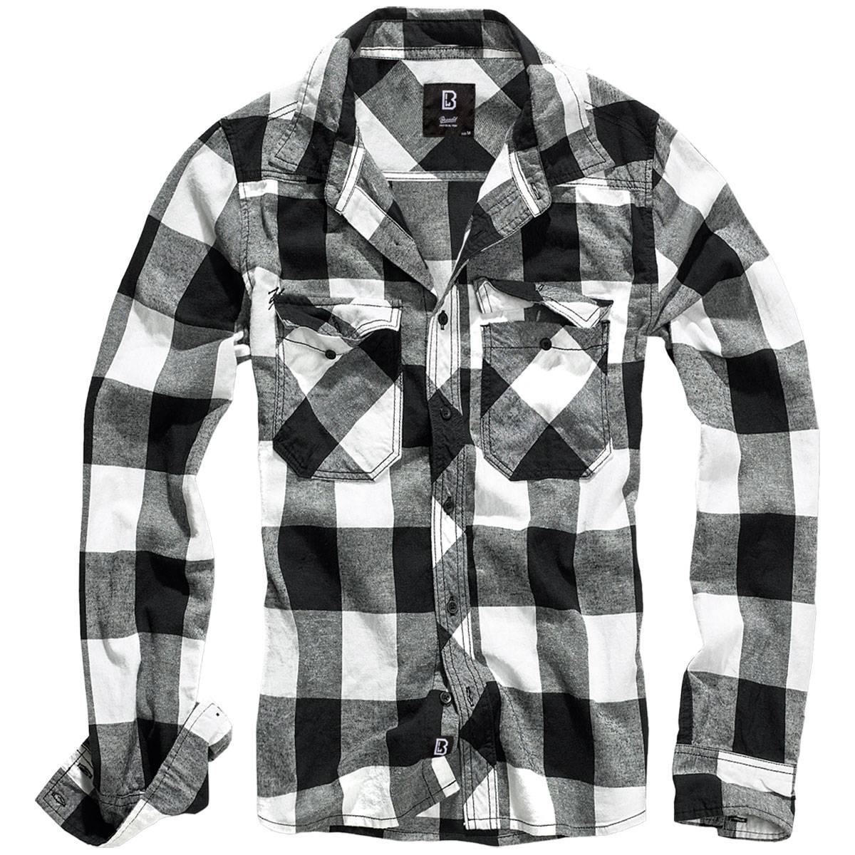 brandit checkshirt schwarz wei xxl der gro e bundeswehr shop army 27 90. Black Bedroom Furniture Sets. Home Design Ideas