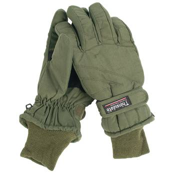 Thermo-Fingerhandschuhe Thinsulate oliv, M