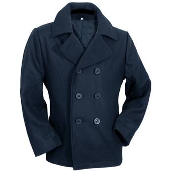 US Navy Pea Coat, navy-blau, XXL