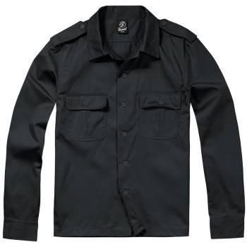 on sale 47fcc 671f9 US Hemd langarm schwarz