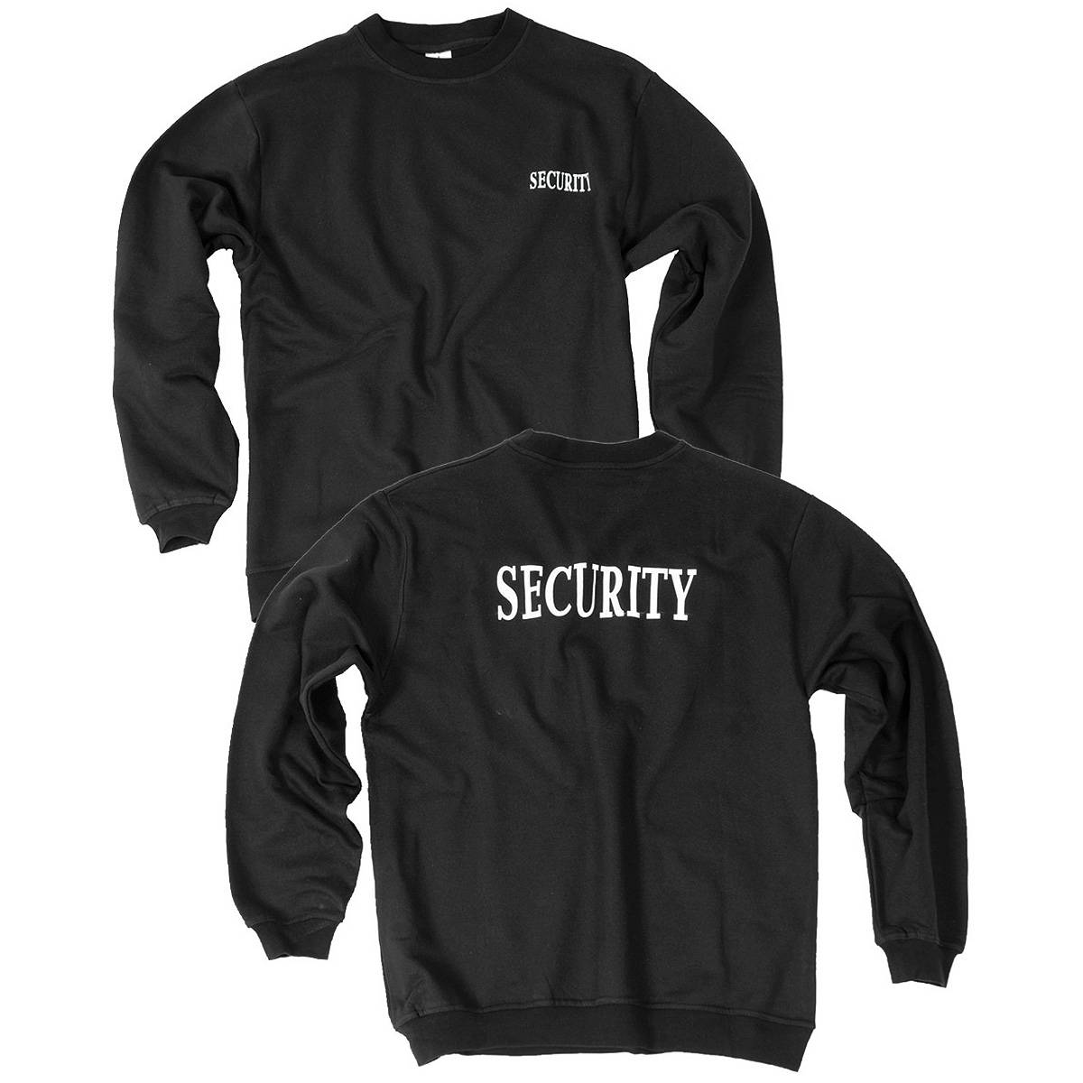 security sweatshirt schwarz xxl der gro e bundeswehr shop army sho 22 90. Black Bedroom Furniture Sets. Home Design Ideas