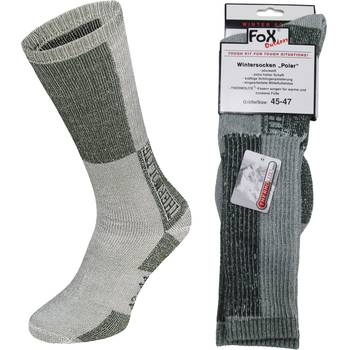 Wintersocken POLAR, oliv-weiß, 45/47