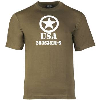 T-Shirt oliv ALLIED STAR