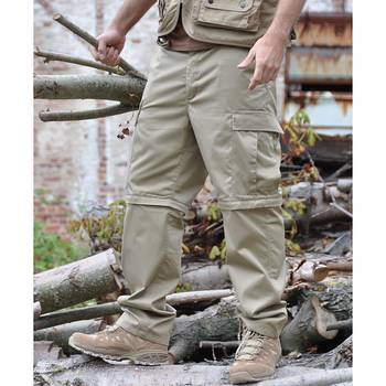 Zip-Off Feldhose BDU khaki, XL