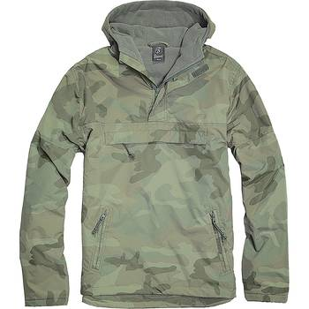 Hooded Windbreaker woodland, L