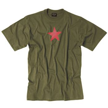 T-Shirt ROTER STERN oliv