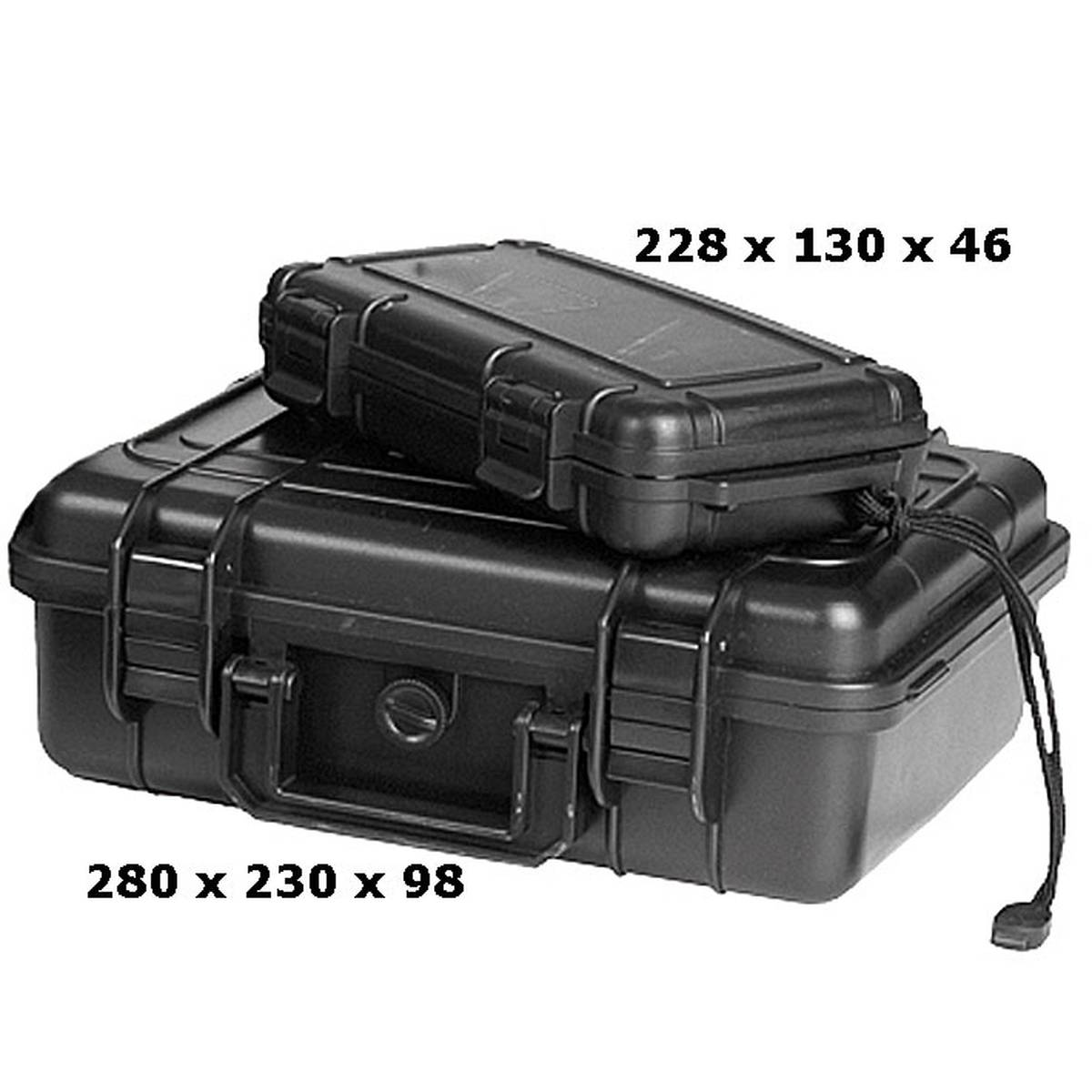 Kunststoff Transport Outdoor Box Case wasserdicht 26,7 x 23,9 x17,6 cm OD oliv
