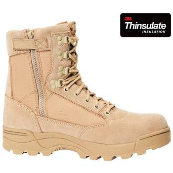 Tactical Swat Boots Zipper camel, 39