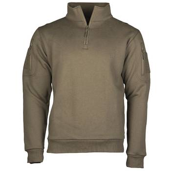 Tactical Sweatshirt mit Zipper oliv, L