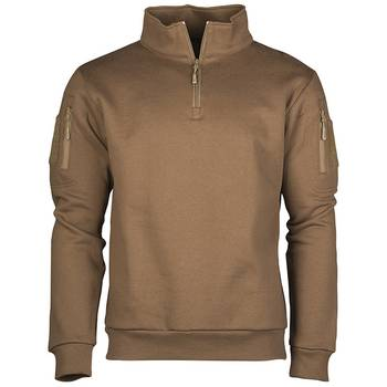 Tactical Sweatshirt mit Zipper coyote, M