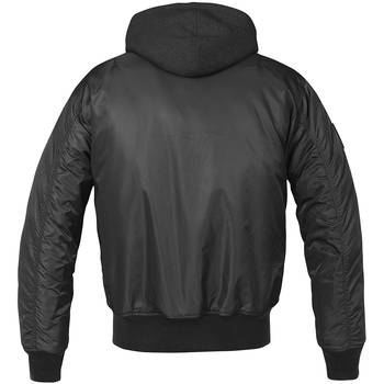 MA1 Jacke Sweat Hooded schwarz