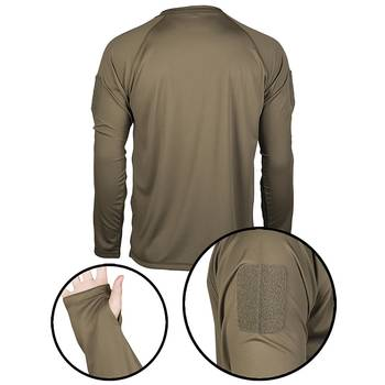 Tactical Langarmshirt Quick Dry oliv