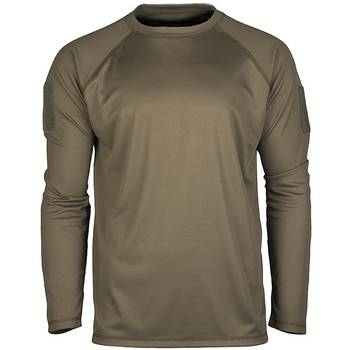 Tactical Langarmshirt Quick Dry oliv, S