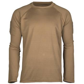 Tactical Langarmshirt Quick Dry coyote, L